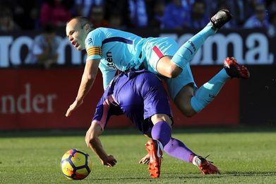 Andrés Iniesta, sexto jugador de la historia con 300 victorias en Primera