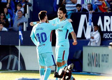 Luis Suárez recupera la sonrisa y el olfato goleador en Leganés