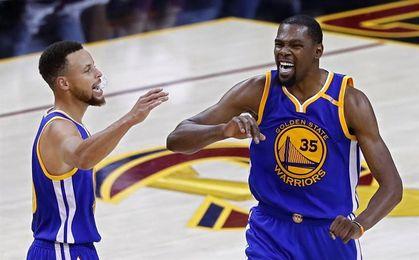 Kevin Durant, baja con los Warriors en el partido ante los Nets