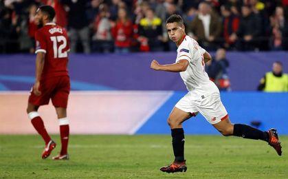 Ben Yedder, máximo goleador histórico del Sevilla en la Liga de Campeones