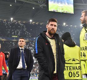 Messi, suplente en el once del Barcelona
