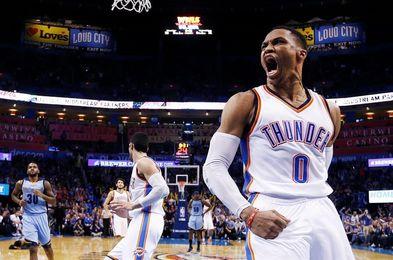 108-91.Westbrook, mejor anotación, venganza y triunfo de Thunder ante Warriors
