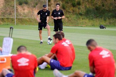 Juanpe, principal novedad en el entrenamiento del Girona