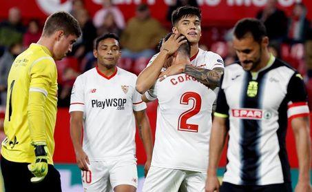 4-0. El Sevilla, a octavos con nueva goleada ante un voluntarioso Cartagena