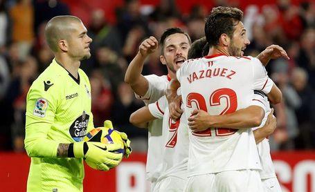 2-0. El Sevilla aprieta para meterse en puestos ´Champions´