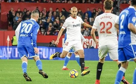 Pizarro fue el mejor del Sevilla en la tarde de ayer.