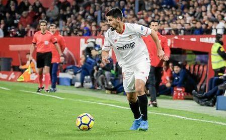 Nolito cuajó ante el Deportivo uno de sus mejores partidos como sevillista, con dos asistencias incluidas.