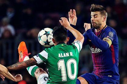 0-0. Barcelona y Sporting de Portugal firman las tablas tras el primer tiempo