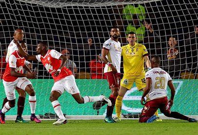 Santa Fe golpea primero a Tolima en las semifinales de la liga colombiana
