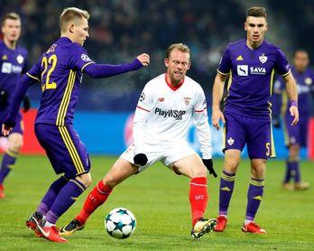 El Sevilla llega a octavos de la máxima competición europea por quinta vez