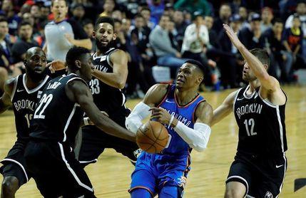 100-95. Los Nets remontan en el último periodo y vencen a los Thunder de Westbrook