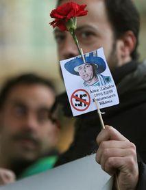 Aitor Zabaleta, homenajeado en Donostia, en el 19 aniversario de su asesinato
