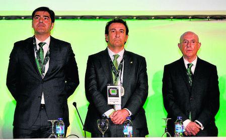 Ángel Haro (presidente), José Miguel López Catalán (consejero delegado) y Lorenzo Serra Ferrer (vicepresidente deportivo).