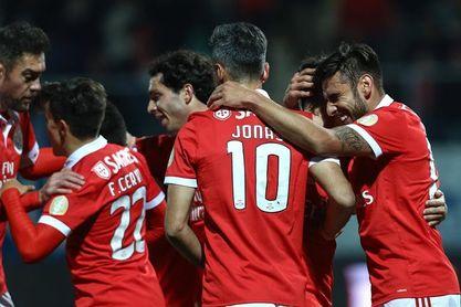 1-5. El Benfica se aferra al tren delantero de la Liga tras golear al Tondela