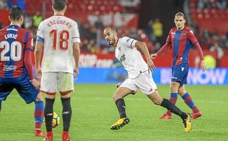 Pizarro no vio cartulina amarilla ante el Levante y sigue apercibido de sanción.