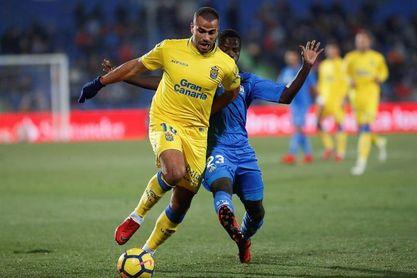 2-0. El Getafe se acerca a Europa a costa de hundir a Las Palmas