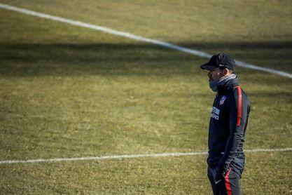 Giménez, la única ausencia del Atlético antes de visitar al Espanyol