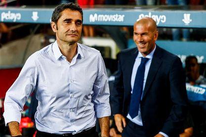 Zidane, especialista en el Clásico y en vencer a Valverde