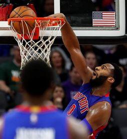104-101. Drummond aporta doble-doble en la victoria de los Pistons