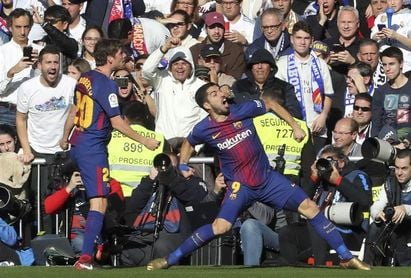 El Barcelona gana tres Clásicos seguidos en el Bernabéu en la Liga