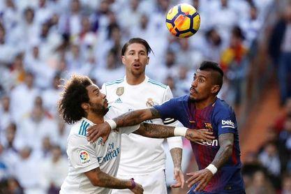 Real Madrid y Barcelona empatan 0-0 al descanso