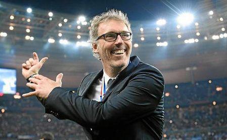 Blanc, durante su etapa en el banquillo del PSG.