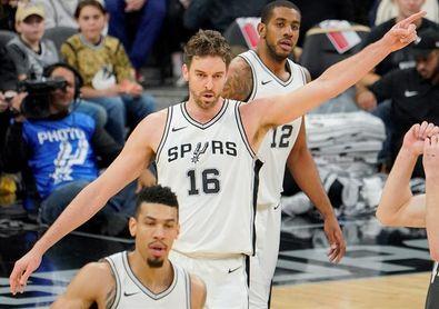 109-97. Leonard y Aldridge lideran la victoria de los Spurs; Gasol logra doble-doble