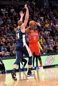 128-113. Rondo logra 25 asistencias en el triunfo de los Pelicans sobre los Nets