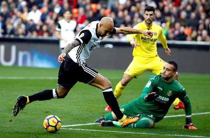 Zaza, Mina y Rodrigo coparon la mitad de los 79 goles del Valencia en 2017