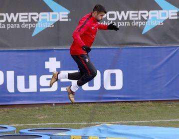 El Atlético estrenó 2018 con un entrenamiento centrado en la Copa y con Giménez