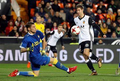 4-0. Vietto mete en cuartos al Valencia ante un Las Palmas sin garra