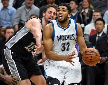 118-108. Towns se acerca al triple-doble en triunfo de los Timberwolves