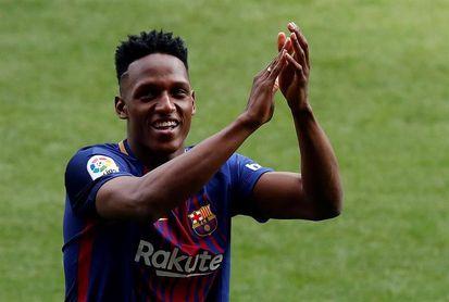 Yerri Mina se presenta ante un Camp Nou con acento colombiano