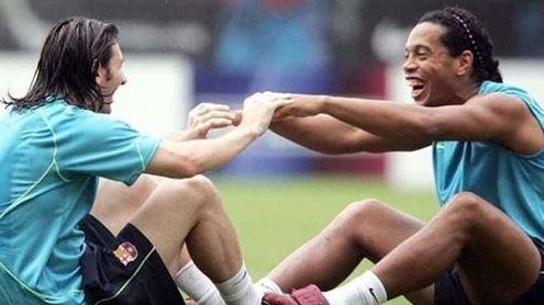 Foto que Messi ha utilizado para homenajear a Ronaldinho