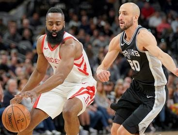 91-102. James y Rockets dominan a Spurs en el duelo tejano; Pau Gasol, 6 puntos