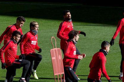 El Atlético prepara el duelo contra el Valencia en el Metropolitano