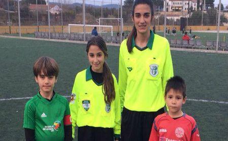 Lorena y su sueño de arbitrar un partido de fútbol.