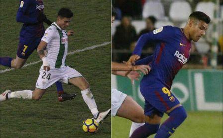 Narváez y Nahuel, protagonistas en el Córdoba-Barça B