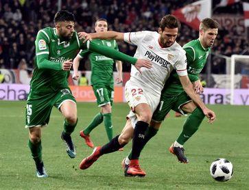 2-0. El Sevilla, a su novena final tras superar al matagigantes de Copa