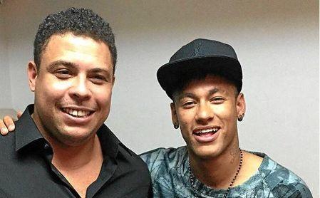 Neymar y Ronaldo Nazario siempre han guardado una buena amistad.