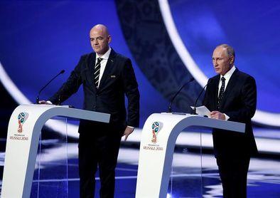 Putin e Infantino analizarán los preparativos del Mundial el día 12 en Sochi