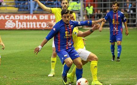 Lance del encuentro disputado entre el Extremadura y el Écija