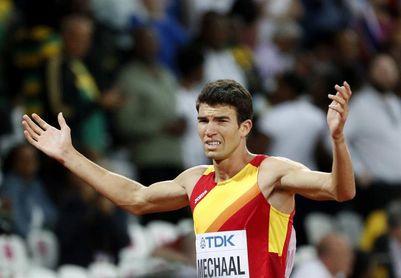 Mechaal, cuarto en el 3.000 con 7:44.31, desafió a Cheserek