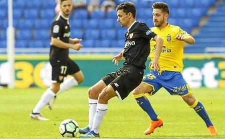 Jesús Navas, en un lance del partido ante Las Palmas.