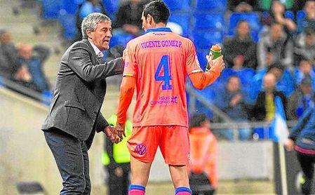 Quique Setién contó bastante con Vicente Gómez en su etapa al frente de Las Palmas.