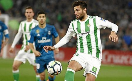 Barragán, en un lance del partido ante el Real Madrid.