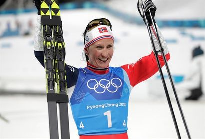 Bjoergen a aumentar su récord de medallas olímpicas el día del cierre