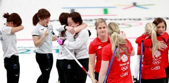 Japón derrotó a Gran Bretaña y le arrebata el bronce en el curling femenino
