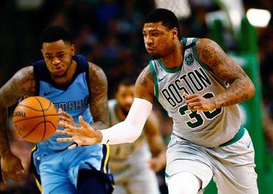 109-98. Irving, con 25 puntos, mantiene ganadores a los Celtics; Marc, 17 puntos
