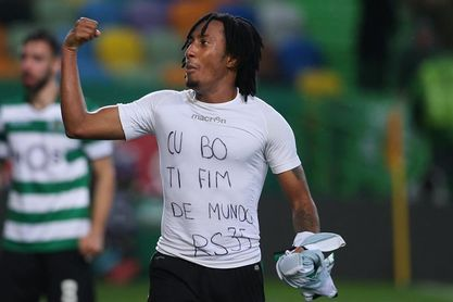 Gelson Martins vio la segunda amarilla por mostrar una camiseta de apoyo a Rubén Semedo